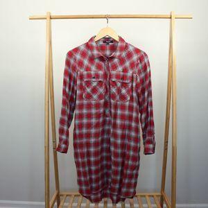 Madewell • Daywalk Shirt Dress Fairfax Red Plaid
